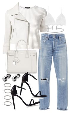 """""""Untitled #19933"""" by florencia95 ❤ liked on Polyvore featuring Citizens of Humanity, The Row, Forever 21, Yigal AzrouÃ«l, Yves Saint Laurent, Stuart Weitzman and Humble Chic"""