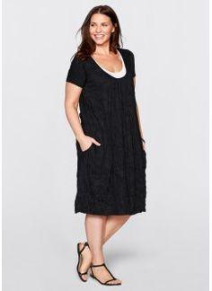 Платье 2 в 1 с коротким рукавом, bpc bonprix collection, черный