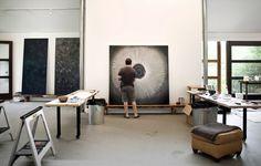 Ross Bleckner's Studio