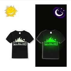 Fortnite Battle Royale kids boys girls Luminous Fluorescent Glow In Dark child summer t shirt Girls Summer Outfits, Summer Tshirts, Piece Of Clothing, Kids Boys, Boy Or Girl, Glow, Children, Mens Tops, T Shirt