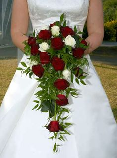 red Rose straight shower bouquet