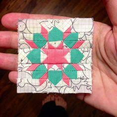 """2"""" Swoon mini block by Three Owls, via Flickr"""