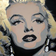 Marilyn by monica casali tela 120x120 tecnica mista