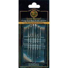 Lion Brand Large-Eyed Blunt Needles-Sizes 13, 14 & 16 6/Pkg - sizes 13, 14 & 16 6/pkg, Sizes 13/14 & 16 6/Pkg sizes 13/ 14 & 16 6/pkg
