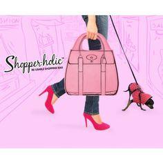 Shopperholic Shopper Vaaleanpunainen - Uudelleenkäytettävä Ostoslaukku - Tilaa nyt edulliseen hintaan! - AlphaGeek