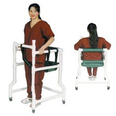 PVC Walker with Casters