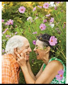 Spring is coming right up. This lovely couple seems to be enjoying the change of weather as the sun begins to come up.    #seniors #together