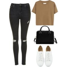 Untitled #1207 by susannem on Polyvore featuring polyvore fashion style Madewell Topshop Zara