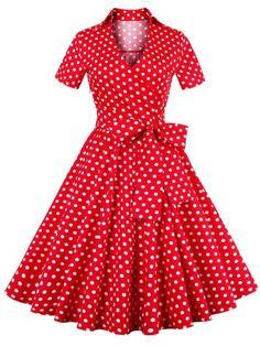 GET $50 NOW   Join RoseGal: Get YOUR $50 NOW!http://m.rosegal.com/vintage-dresses/retro-polka-dot-print-bowknot-656460.html?seid=7839514rg656460