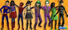 Halloween Costumes for Kids / Sims 4 Custom Content Sims Halloween Costume, Theme Halloween, Halloween Costumes For Kids, Sims 4 Cas Mods, Sims 4 Seasons, The Sims 4 Bebes, Maxis, Sims 4 Anime, Sims 4 Controls