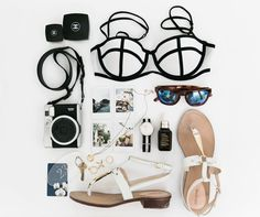 pretty travel / honeymoon flat lay