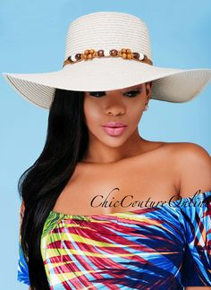 Chic Couture Online - Eugenia Beige Embellished Straw Hat.(http://www.chiccoutureonline.com/eugenia-beige-embellished-straw-hat/)
