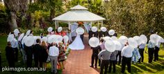 Umbrellas at a wedding Bushlands Gazebo Joondalup Resort
