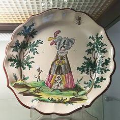 Piatto in maiolica, manifattura di Felice Clerici, XVIII secolo.