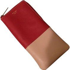 Leather sunglass pouch wallet CELINE