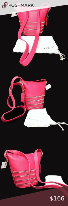 I just added this listing on Poshmark: Coach NWT Whiplash Bucket Bag 35373 in Pink. Duffel Bag, Crossbody Bag, Cheap Coach Bags, Hang Tags, Brass Hardware, Coach Handbags, Summer Wardrobe, Pebbled Leather, Pink And Gold