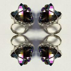 KAPOW! #jewellery #jewelry #contemporaryjewellery #ring #statementring #quartz #titaniumquartz #quartzring #crystaljewelry #gemstone #crystals #jotd #fashion #Melbourne #madeinmelbourne #lizzieslatteryjewellery