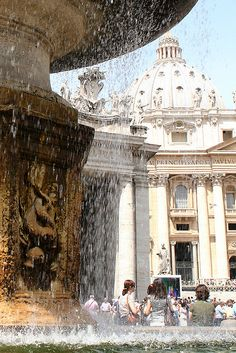 St Peter's Fountain, Vatican City, Italy