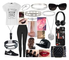 """""""OOTD-Sunday, March 13"""" by kenziebandgeek ❤ liked on Polyvore featuring Ally Fashion, Topshop, NIKE, TheBalm, Chanel, Beats by Dr. Dre, Karen Kane, Michael Kors, Tiffany & Co. and Bling Jewelry"""