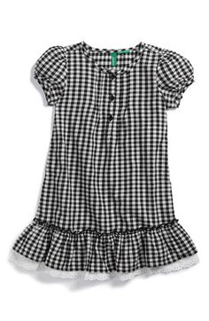 United Colors of Benetton Kids Plaid Dress