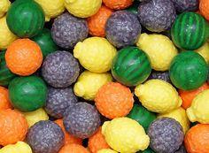 Fancy Fruit Gumballs 25 mm
