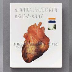 Libro/Rent a Body.El carácter complejo de la obra de Paco Cao se refleja en el aspecto del libro. La cubierta reproduce la imagen de una tarjeta de crédito, donde la marca Visa se ha sustituido por el nombre del autor, y la holografía de la paloma por una radiografía del artista.