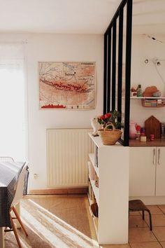 une verrière d'atelier pour séparer ma cuisine de l'espace salon / diy:
