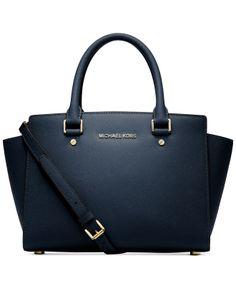 MICHAEL Michael Kors Selma Medium Satchel - Handbags & Accessories - Macy's
