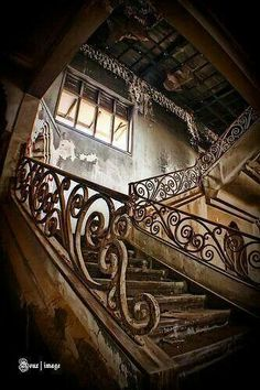 beautiful abandoned staircase, Would love to have seen it in it's hey day