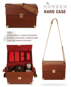♥ this Modern Hard Case Camera Bag from Drop It Modern