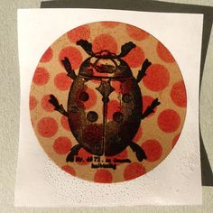 Beetle rubber stamp / Lady bug stamp / Gardening stamp / Unmounted rubber stamp or cling stamp option Craft Stickers, Basic Style, Foam Cushions, Beetle, Ladybug, Bugs, Kids Rugs, Stamp, Cards