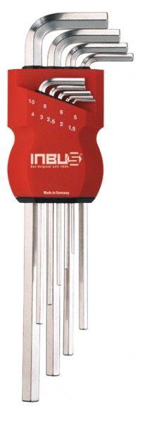 INBUS® 70006 - metrisch 9tlg. 1,5-10mm Made in Germany      Satz 9tlg. 1.5-10mm     hochwertiges und exklusives Design     10 Jahre Garantie     Marke: INBUS® - Das Original seit 1934.  http://www.inbus.de/home/inbus-metrisch/7/inbus-70006-inbusschluessel-satz?c=12