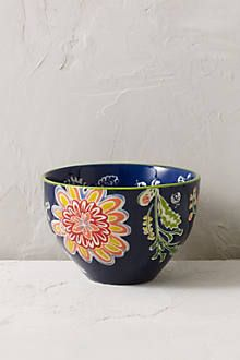 Anthropologie Europe - Floral Bowl (much larger than it looks!)