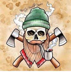 Beard and skulls