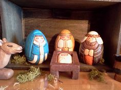 Carved Nativity Set by lmdickie1 on Etsy