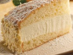 Olive Garden's Lemon Cream Cake omg just had this at olove garden. Im so going to make this at home!!!!!!!!!!