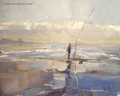 Roos Schuring New paintings- Seascapes and landscapes plein air: Seascape autum…