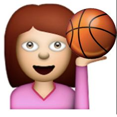Basketball emoji- it would be better if it was a volleyball but still cool