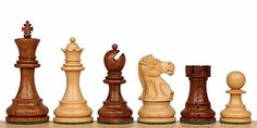 Deluxe Old Club Staunton Chess Set in Golden Rosewood  Boxwood  325 King -- Visit the image link more details.