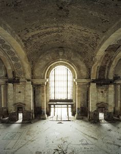 Main Lobby, Michigan Central Station, Detroit. Designed by firms Warren & Wetmore and Reed & Stern, who also designed New York's Grand Central Station, and completed in 1913, the building was abandoned in 1988
