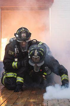 Chicago Fire: Firefighter rescue scene Shared by LION Firefighter Paramedic, Wildland Firefighter, Volunteer Firefighter, Chicago Pd, Chicago Fire, Fire Dept, Fire Department, Into The Fire, Fire Apparatus