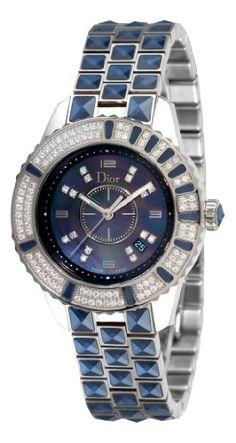 Christian Dior Women's CD11311GM001 Christal Diamond Blue Dial Watch