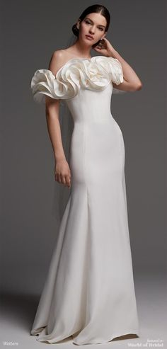 Watters Spring 2018 sheath gown #weddingdress