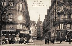 boulevard Saint-Michel - Paris 5ème/6ème La rue Saint-Séverin au croisement avec le boulevard Saint-Michel, vers 1900.