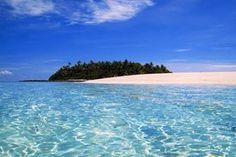 Alone on your own Fiji Island. This website shows you many different places for vacation. This particular one is alone on your own island!