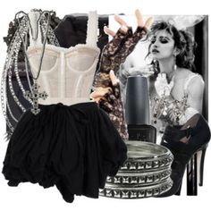 madonna looks in the eighties Madonna 80s Outfit, Madonna Costume, Madonna Fashion, 80s Costume, Madonna Concert, 80s Theme Party Outfits, Madonna Looks, Look 80s, Madona