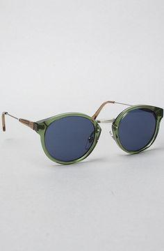 Super Sunglasses. The Panama Sunglasses in Dark Green $220