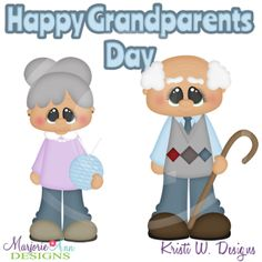 Grandparent's Day SVG Cutting Files Includes Clipart
