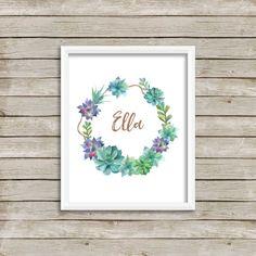 Ella, Ella Printable, Name Print, Custom Name Print, Nursery Printable, Wedding…