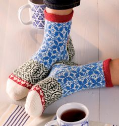 Delft Blue by Stephanie van der Linden from Around the World in Knitted Socks: 26 Inspired Designs
